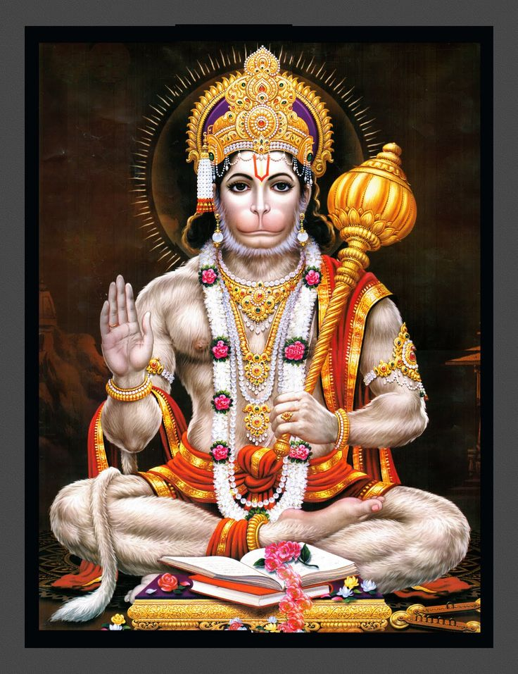 Lord Hanuman, symbol of strength, perseverance and devotion.