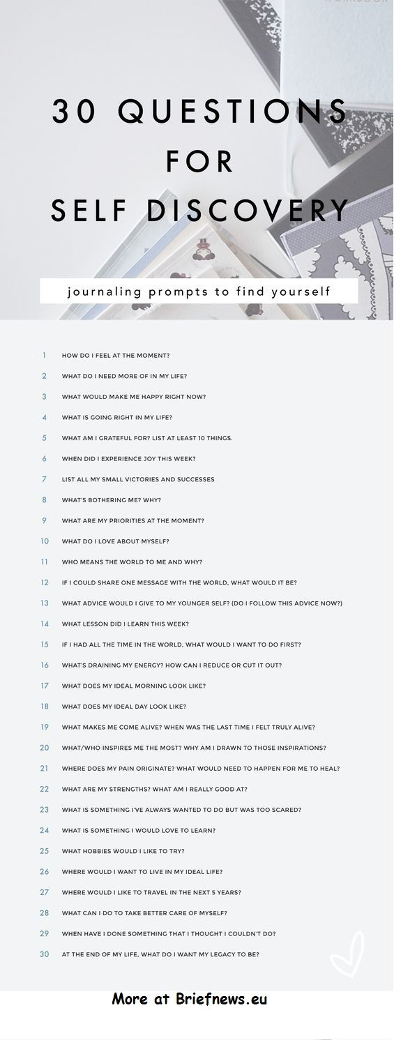 30 questions for self discovery