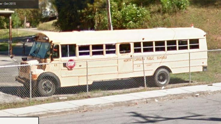 Clay County Schools (North Carolina Public Schools) 49 - 1995 Thomas Vista International; Bus Yard - Hayesville, North Carolina