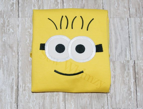 Minion shirt by sewwhimzy on Etsy, $20.00