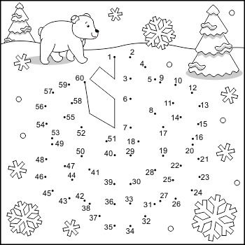 Connect the Dots and Coloring Page with Snowflake ...