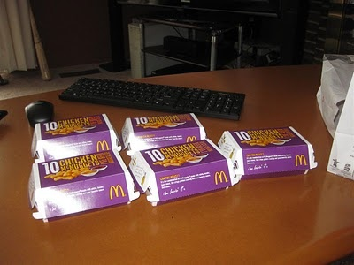 $10 - Sack of 50  -------------------------  McDonalds 50 piece Chicken McNuggets.  They should always be just 10 dollars.  Pictures of what that looks like.  10 dollars, best deal, drive thru, eat, mcdonalds, mcnuggets, ordered, sack of 50