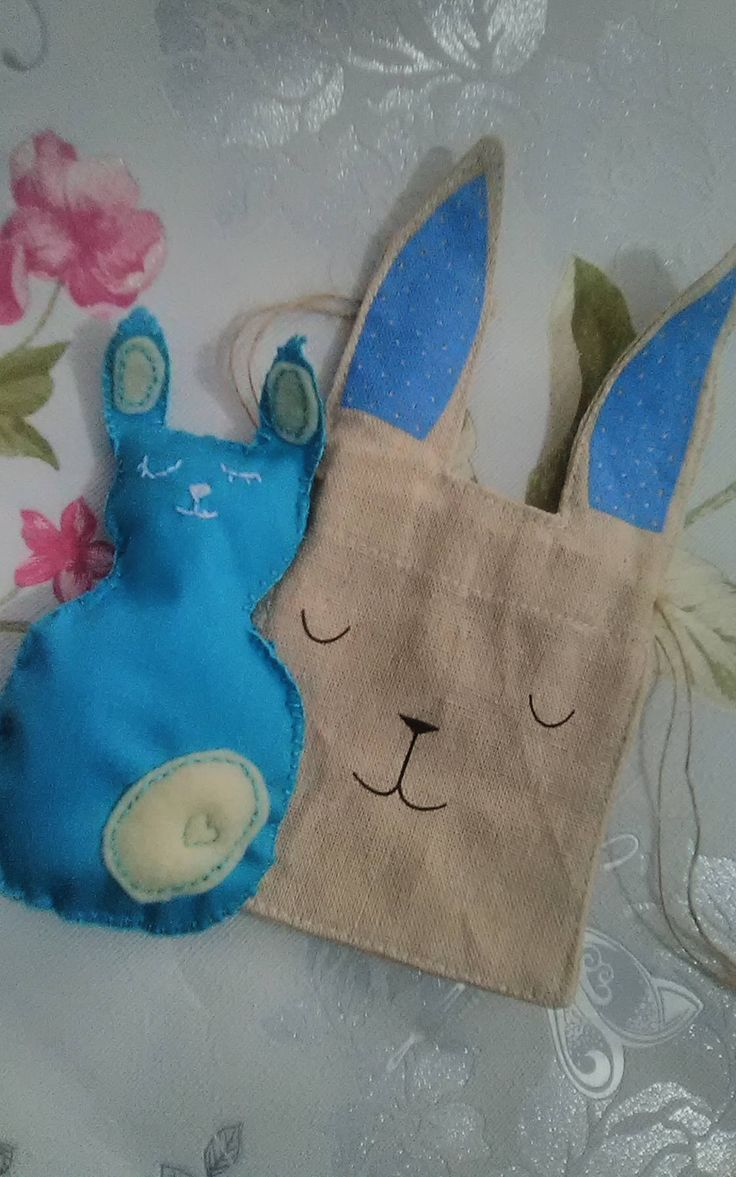 Bunny Rabbit in a little gift bag Easter Egg Chocolate Baby Shower by TeenyTinyPocketWorld on Etsy