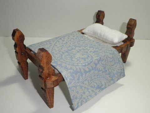 ▶ tutorial para hacer una cama con pinzas de madera / tutorial to make a bed with wooden pegs - YouTube