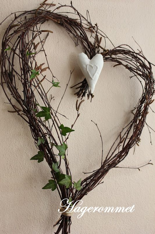 birch branch heart with heart and ivy