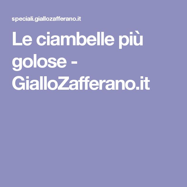 Le ciambelle più golose - GialloZafferano.it