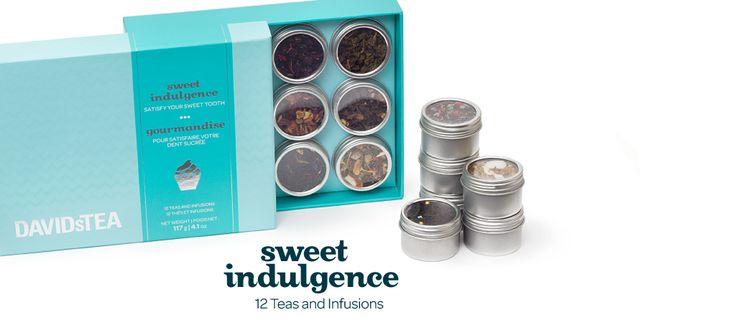 Sweet Indulgence - Tea Gift Box Set of 12 Sweet Teas | DavidsTea