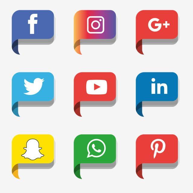 Social Media Icons Set Vector Illustrator Logo Icones Sociais Logo Icones Imagem Png E Vetor Para Download Gratuito Icones Sociais Icones De Midia Social Icones Redes Sociais