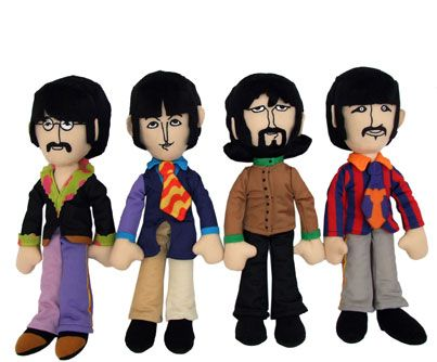Brand new and SO cute! Beatles plush toys.