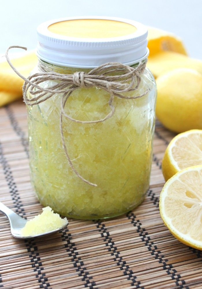 Homemade Honey Lemon Sugar Scrub - makes a great gift!