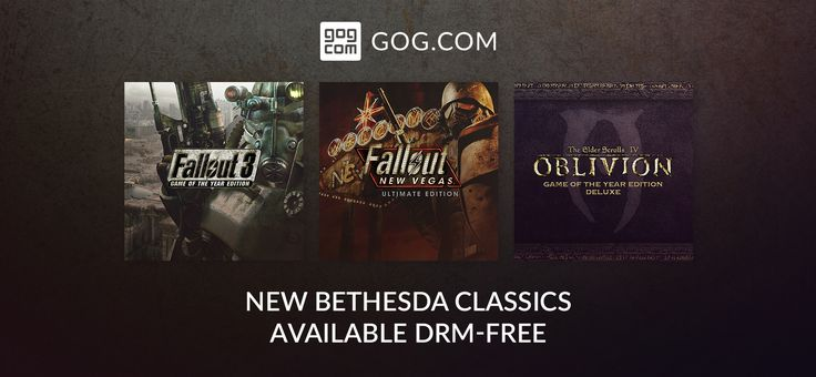 New on GOG - The Elder Scrolls IV: Oblivion, Fallout 3, and Fallout: New Vegas
