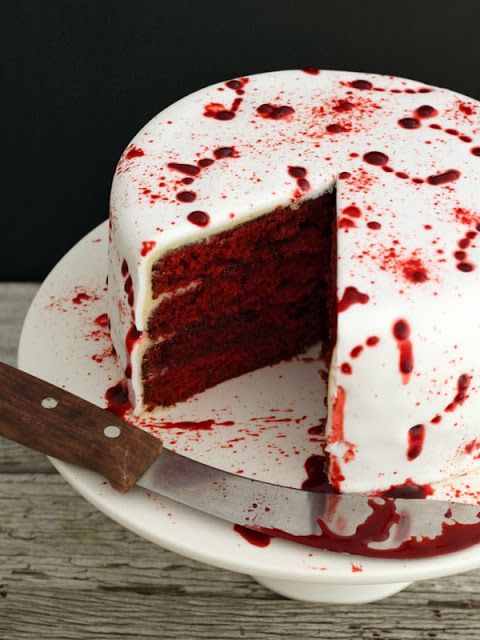 This red velvet cake gets a gruesome makeover. This vampire attack cake will be a crowdpleaser at any Halloween party.