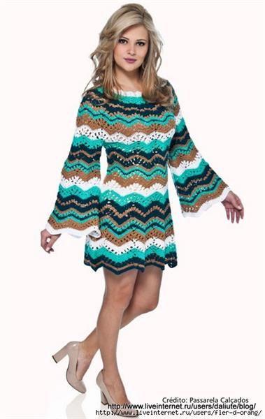 Платье крючком в стиле мисони