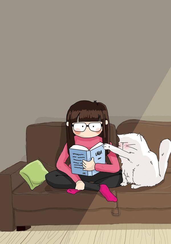 Pattes de Velours & Co, le blog de chat !: Séance lecture - reading time