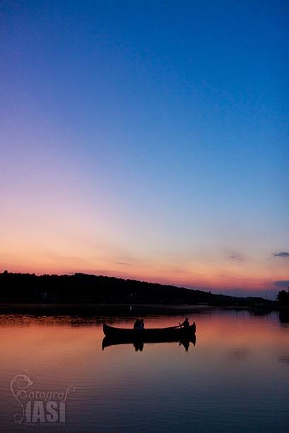 wonderful sunset near a lake in Botosani