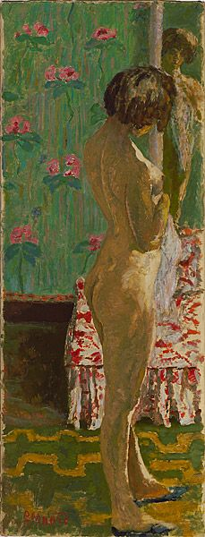 Pierre Bonnard - Woman in front of a mirror [Femme devant un miroir]                 c.1908
