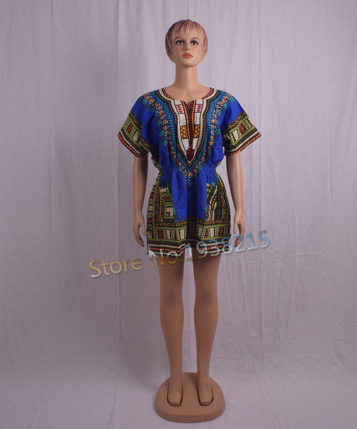 2016 new fashion design traditional print african dashiki dress elastic waist maxi dress for women