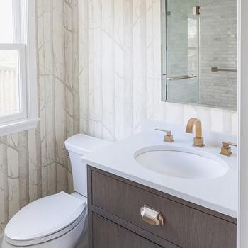 Pics Of Powder room envy starts with Koi wallpaper and custom marble mosaic floors by marksandfrantz Wallpaper DesignsColorful WallpaperKoi WallpaperBathroom