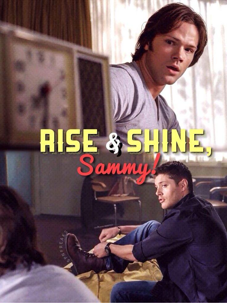 rise and shine Sammy!!! ♪ Heat of the Moment ♪ #mysteryspot #supernatural pic.twitter.com/4UphyVKaxe