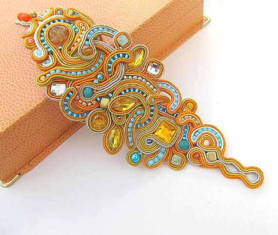 Sunny Soutache Bracelet with Toho Beads and Braid by IncrediblesTN, $189.00