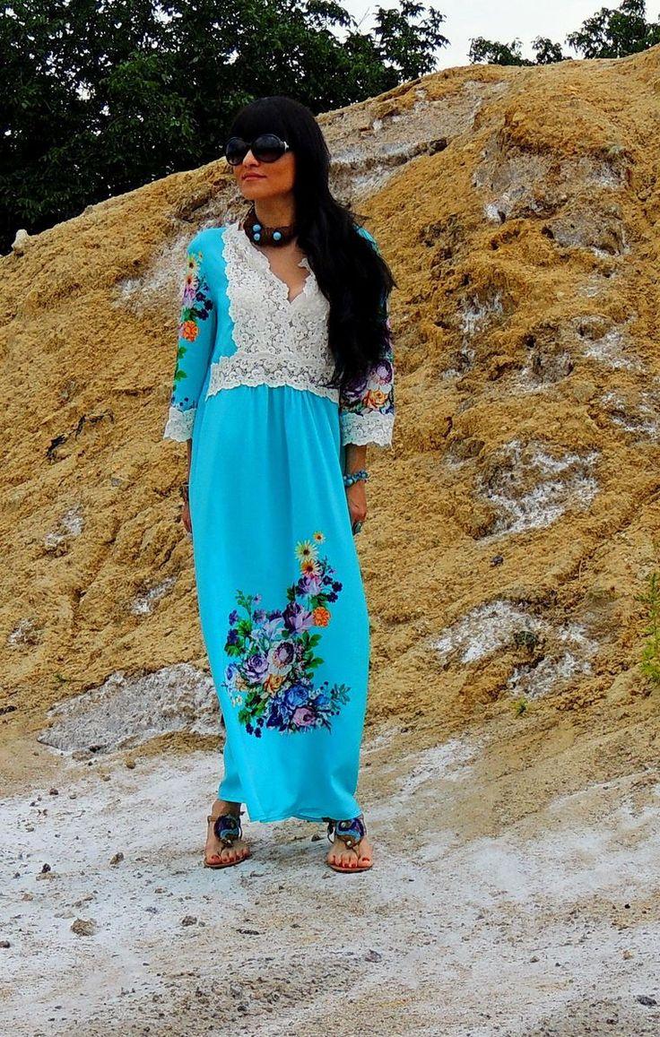 Новинка! Летнее макси платье в стиле БОХО - Ярмарка Мастеров - ручная работа, handmade