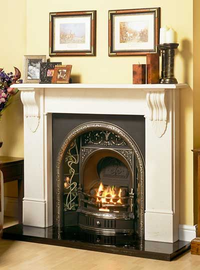 vicfires.com- The Belfast is a rare example of an arched and tiled fireplace insert from the Late Victorian period.