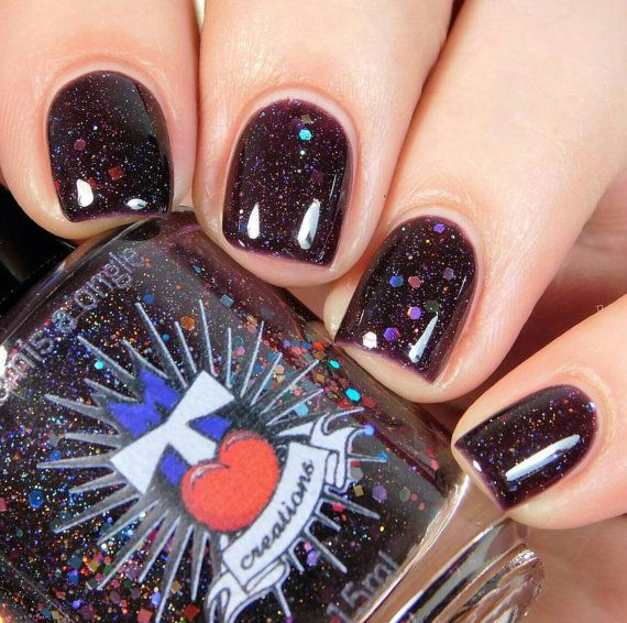 Orgasmic Dreams - afterhours collection - indie nail polish - purple nail polish - glitter nail polish - mtl creations - bridal shower favor