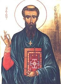 """Saint Cuthbert - Feast day Sept. 4.  See the prayer from my book """"Daily Prayers with the Saints"""" @ http://wordbytes.org/saints/DailyPrayers/index.html?Cuthbert.htm"""