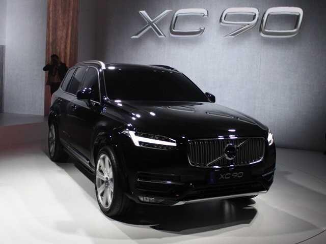 2017 Volvo Xc90 black color, front
