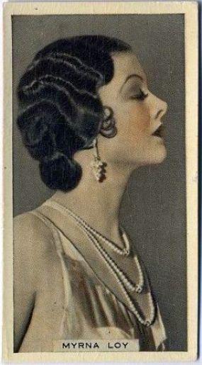 Myrna Loy cigarette card