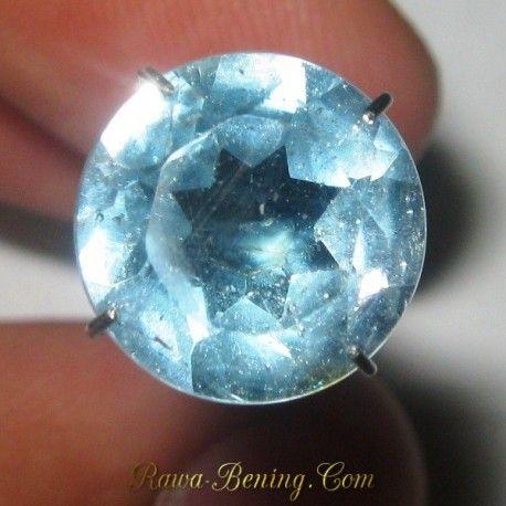 Batu Permata Natural Round Sky Topaz 4.20 carat