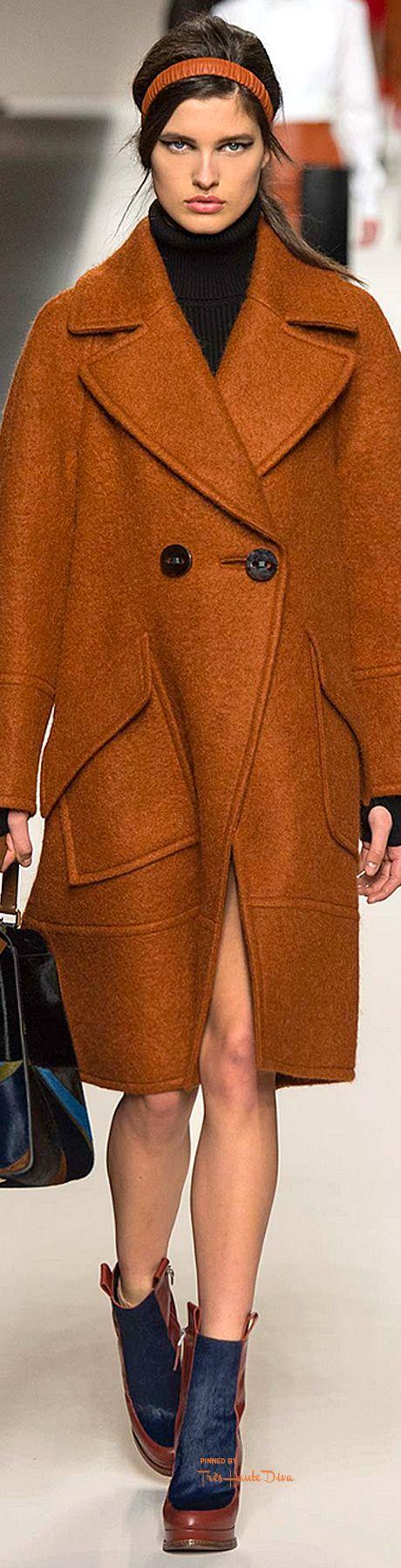 Farb-und Stilberatung mit www.farben-reich.com - #MFW Fendi Fall 2015 RTW Designer: Karl Lagerfeld ♔THD♔