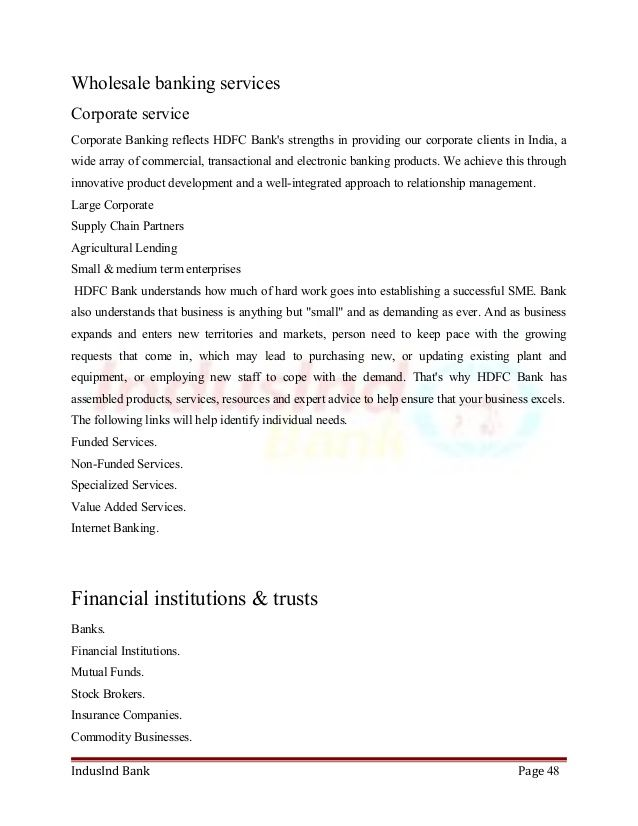 mba project report on hdfc bank before after Pinterest Banks - project report