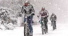 no matter what kind of wheather..always on our bike!