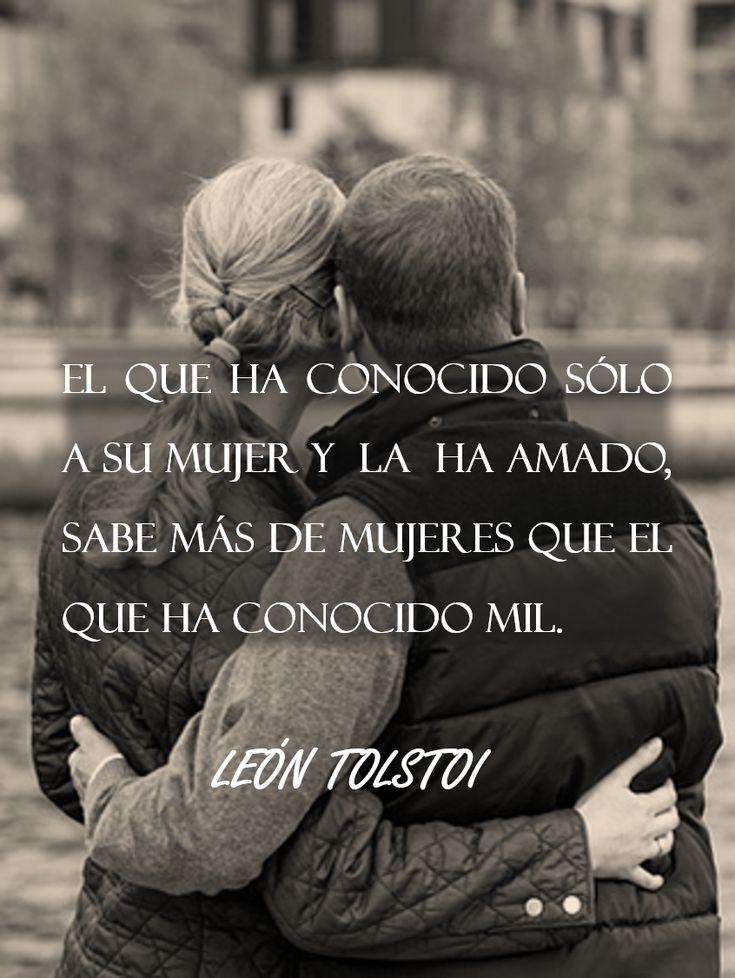 Frase célebre sobre la fidelidad y el amor - Tolstoi
