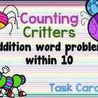 Counting Critters: Addition Word Problems... by Joyful Rigor with Ms Jones | Teachers Pay Teachers