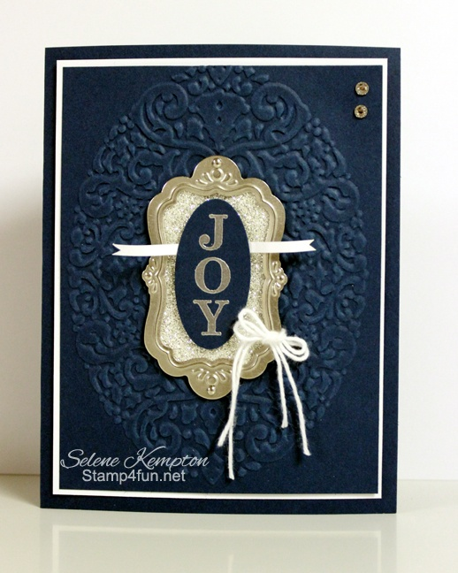 Stamp 4 Fun with Selene Kempton ~ Stampin' Up! Independent Demonstrator: 11/2 Stampin' Up! Joyous Celebrations and Flourish Designer Frames with silver Glimmer Paper ~ 25 Days of Christmas Day 10