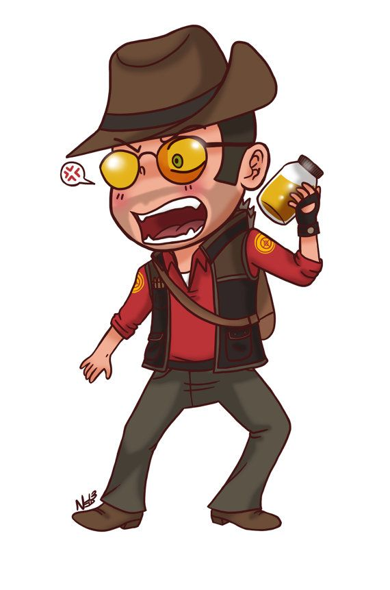 Sniper from Team Fortress 2 Magnet