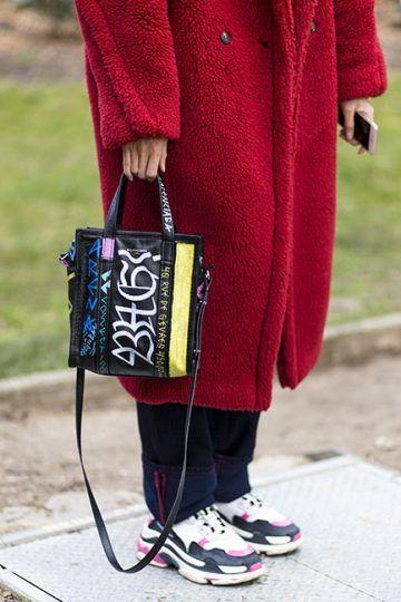 5f64403733 black Graffiti Bazar Shopper Mini Tote Bag | BAG | Bags, Tote bag ...