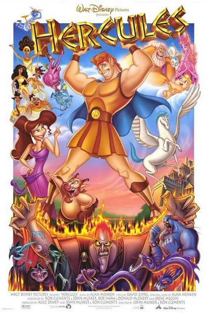 Hercules | John Musker, Ron Clements. Josh Keaton, Tate Donovan, Danny DeVito, James Woods, Susan Egan. - USA 1997. [[I have owned this movie poster twice and lost it both times ...]]