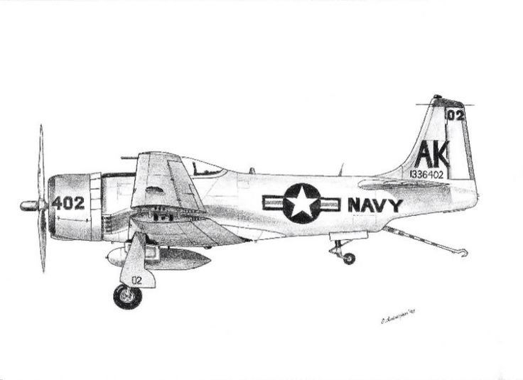 Pure fantacy US Navy fighter post-war in pencil (2B)