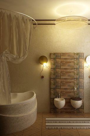 Эклектика Master Ванная комната с утопленного света, Mirya 5 Light для установки заподлицо, Drop-In Ванна, настенные бра, мастер ванной, Флеш