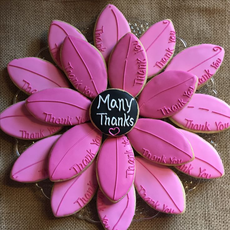 Thank You / Flower Petal Cookies by The Green Lane Baker