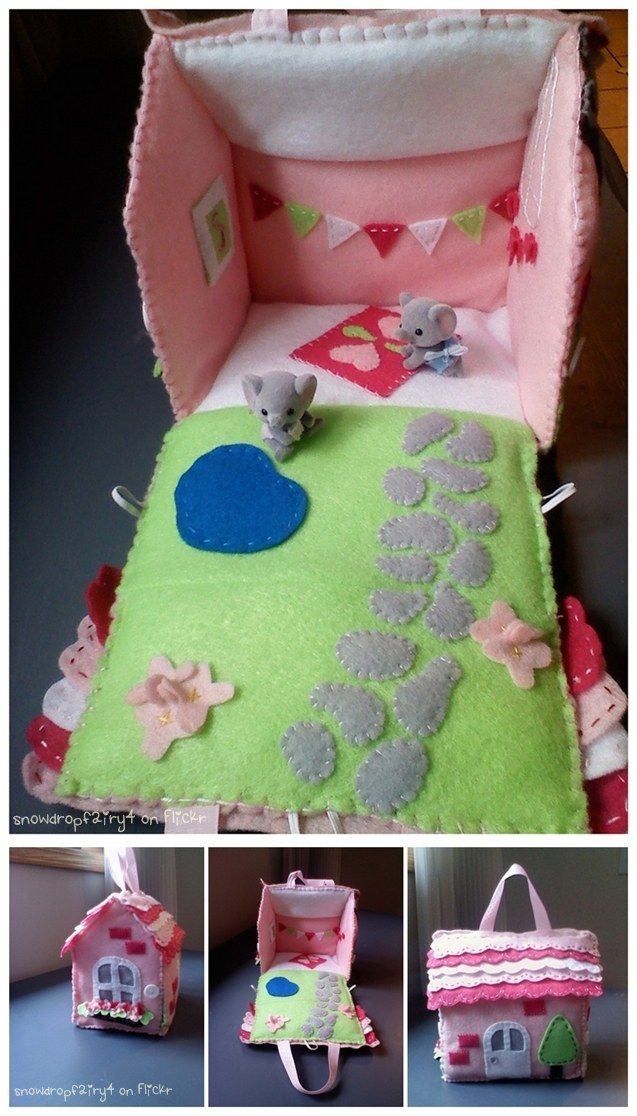 ~ So*¤°•★ •:*´¨`*:•.☆ lovely ~ Portable Doll House ~ ....home to the Buttercup Kitten Twins from Calico Critters by snowdropfairy4 on Flickr