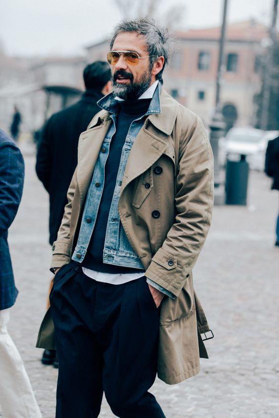 このレイヤードスタイル。かっこいい!! - 海外のストリートスナップ・ファッションスナップ