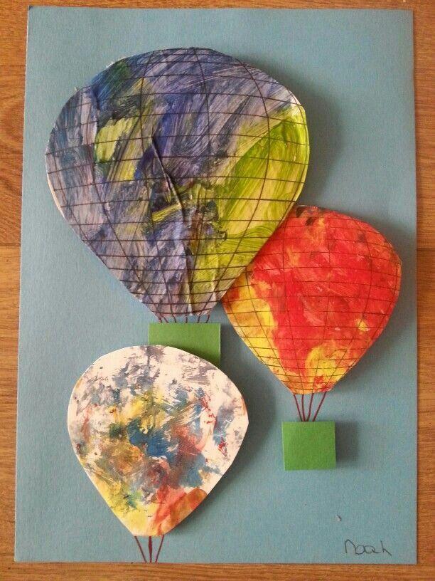Knutselen kleuters /peuters luchtballon zomer