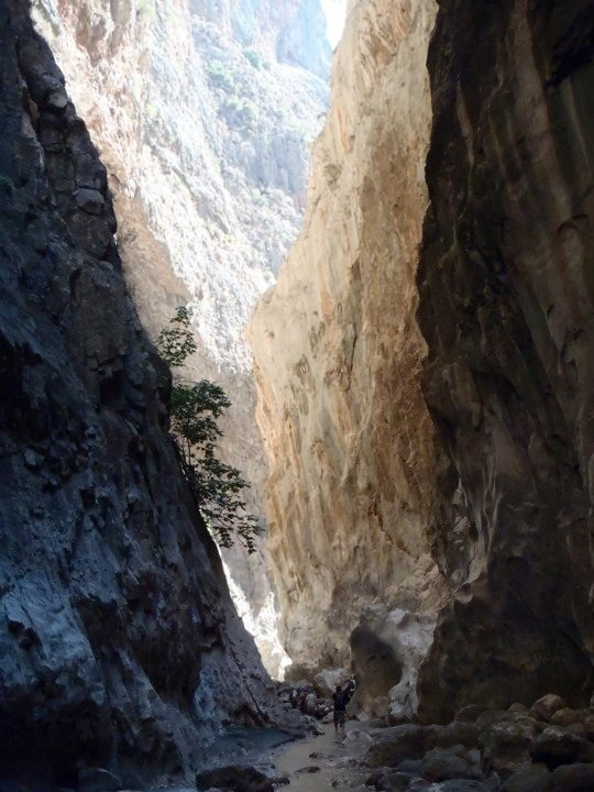 About to pass through the narrowest part of Saklikent gorge in Turkey.