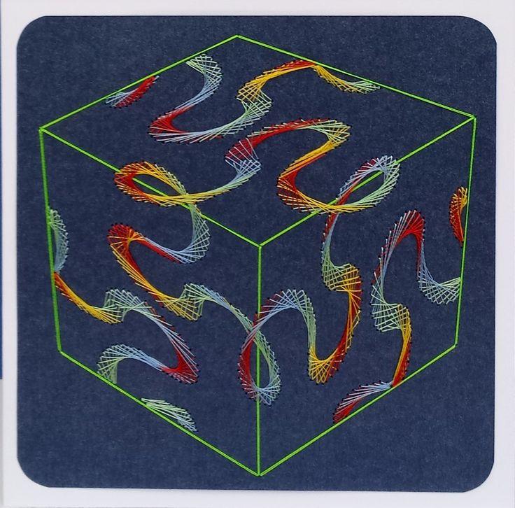 Geometrie 15 -  Motiv: A&N Bild 82 Kubus (XXL) - Doppelkarte mit Umschlag 13,5 x 13,5 cm