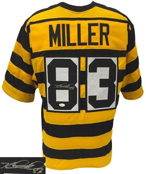 Heath Miller Signed Custom Bumble Bee Football Jersey JSA