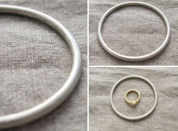 Modern, silver bracelet / Nowoczesna, srebrna bransoletka, matowa, minimalizm yuvel.pl